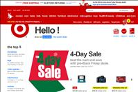 screenshot of Target's Website