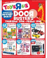 screenshot of Toys R Us Black Friday 2011 ad